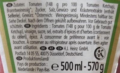 Ketchup - Inhaltsstoffe - de
