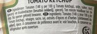 Tomato Ketchup - Inhaltsstoffe - fr