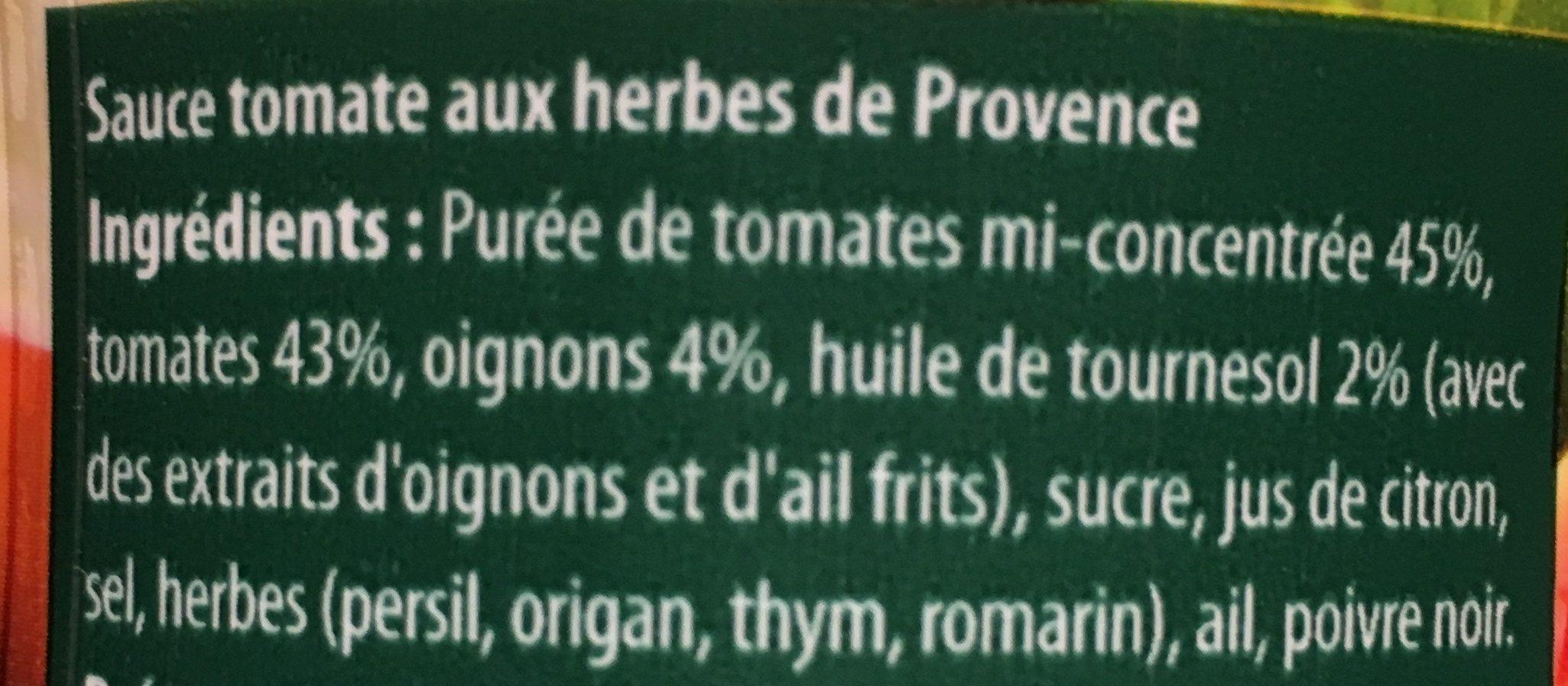 Sauce tomate provençale - Ingrédients