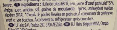 Mayonnaise Seriously Good - Ingrediënten