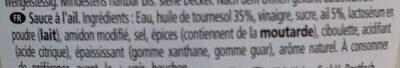 Heinz Knoblauch Sauce - Ingredienti - fr