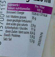 Heinz Knoblauch Sauce - Valori nutrizionali - fr