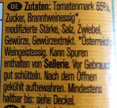 Tomaten Ketchup - Ingredients - de