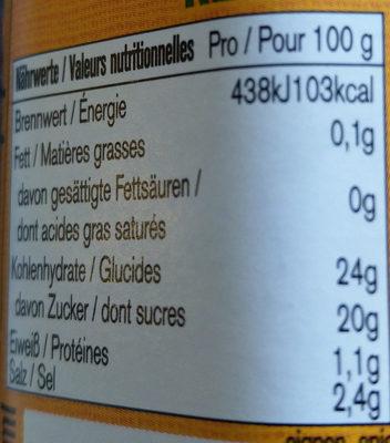 Tomaten Ketchup - Nutrition facts - de