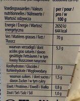 Mayonnaise Heinz - Nutrition facts - fr