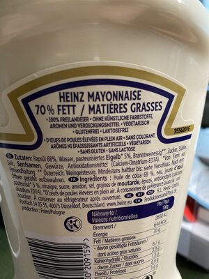 Mayonnaise - Valori nutrizionali - de