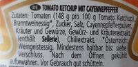 Hot chili ketchup - Inhaltsstoffe - de