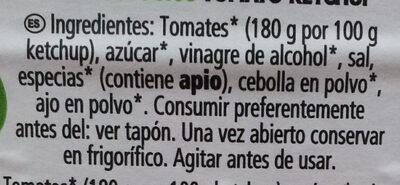 Tomato Ketchup BIO - Ingredientes - es