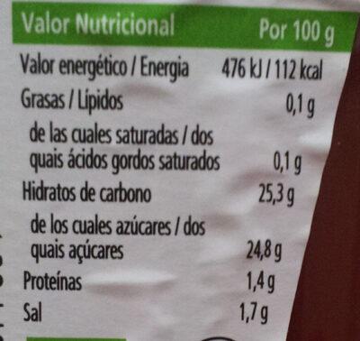Tomato Ketchup BIO - Información nutricional - es