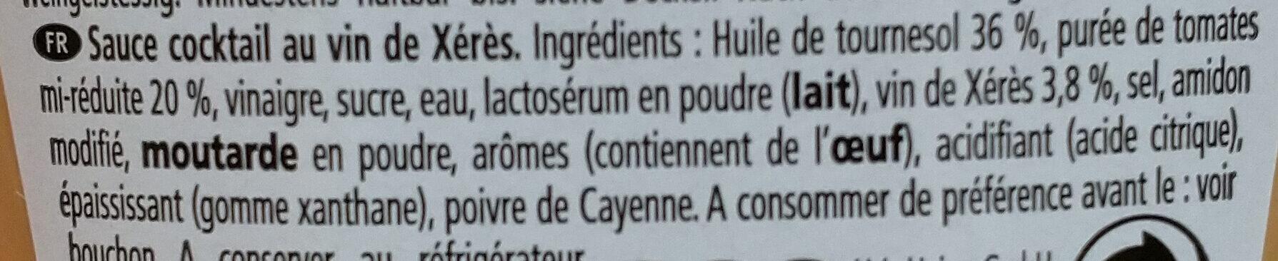 Heinz Sauce Cocktail - Ingredienti - fr