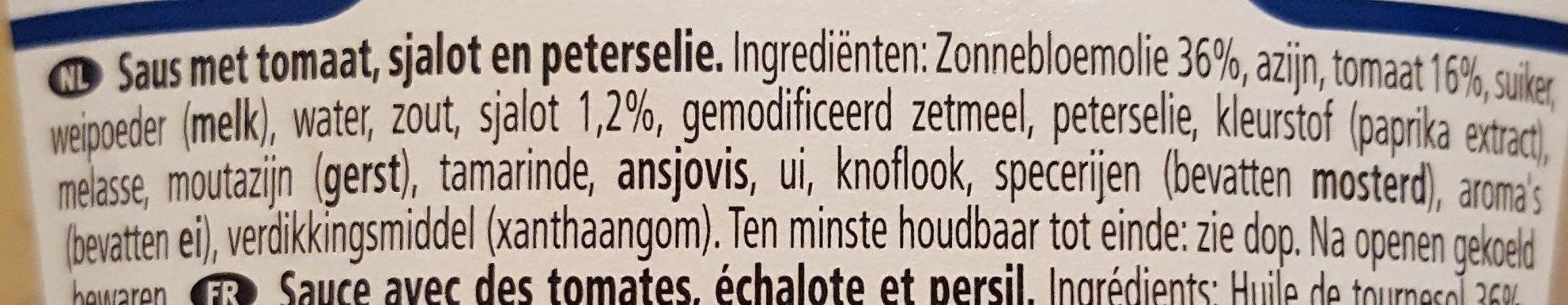 American sauce - Ingrediënten