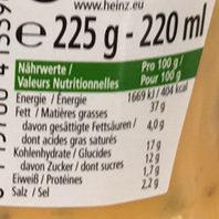 American sauce - Voedingswaarden