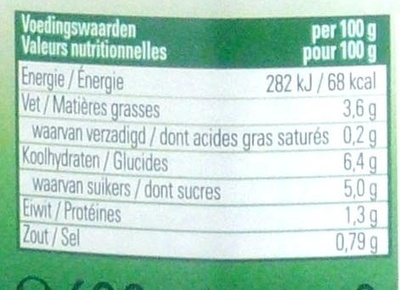 Pasta Sauce traditional - Voedingswaarden - fr
