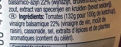 Tomato Ketchup au vinaigre balsamique - Ingrédients - fr