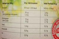 Sandwich Spread Naturell - Informations nutritionnelles