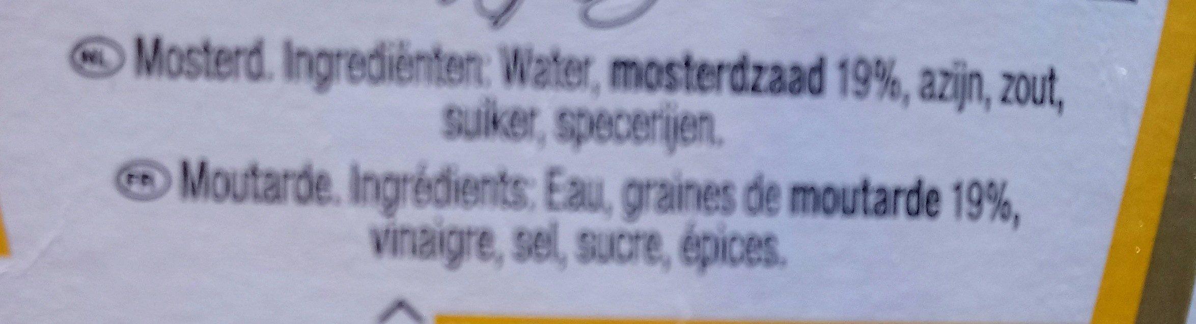 Mustard / Moutarde - Ingredientes