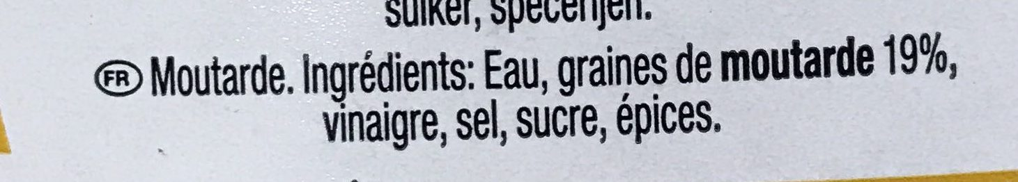 Moutarde - Ingredients