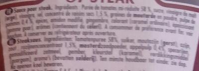 57 steak sauce - Ingrediënten