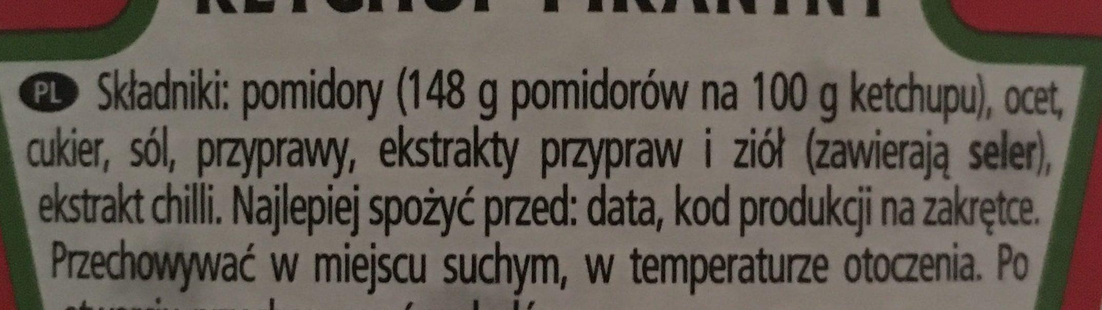 Ketchup Pikantny - Składniki