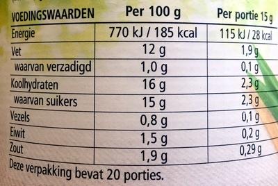 Sandwich spread tomaat lente-ui - Voedingswaarden - nl