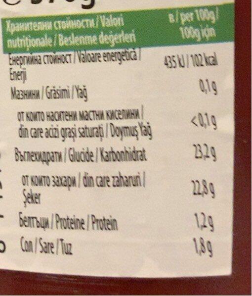 Tomato Edchup - Хранителна информация - bg