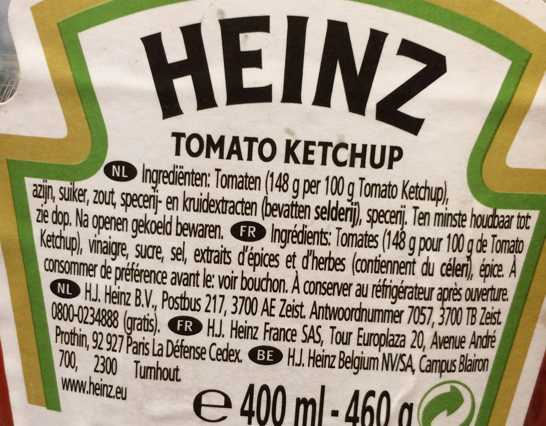 Tomato Ketchup - Ingrediënten - fr