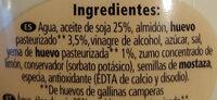 Mayonesa ligera - Ingredientes