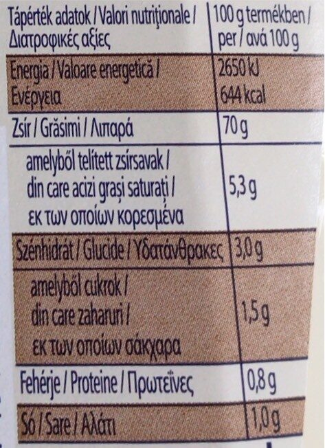 Mayonnaise - Informations nutritionnelles - hu