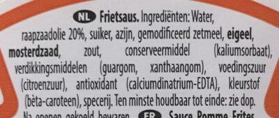 Frites sauce - Ingrediënten