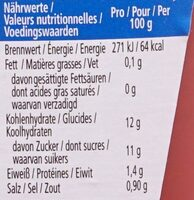 Tomato Ketchup -50% sucres & sel - Voedingswaarden - nl