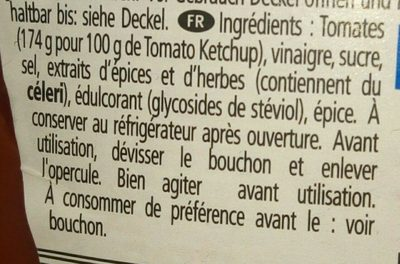 Tomatoketchup 50% - Ingredients