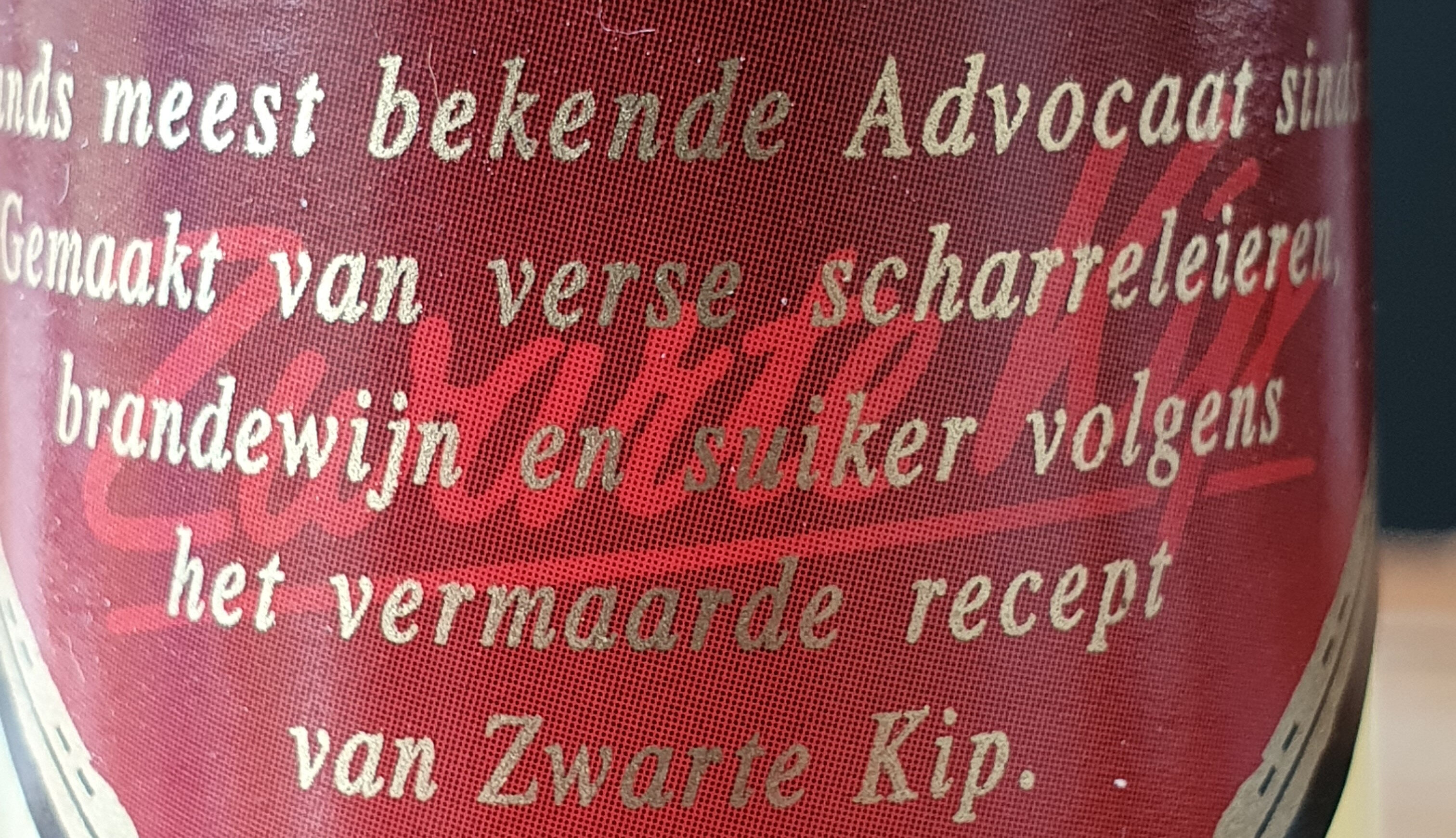 Zwarte kip advocaat - Ingrédients - nl