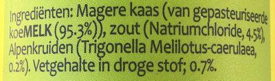 Strooikaas - Ingredients - nl