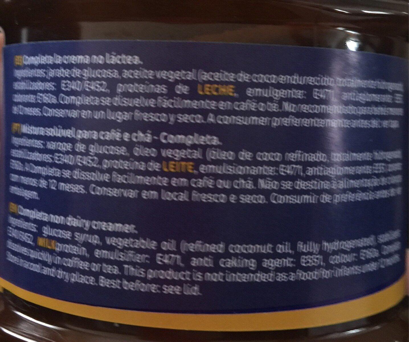 Coffee Whitener - Ingredientes - es