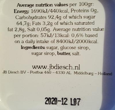 Roomboter Babbelaars - Reine Butter Bonbons - Ingrediënten - de