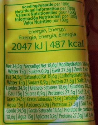 Parmesan ForGio 40g - Informations nutritionnelles - fr