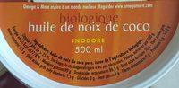 Huile de noix de coco Kokosolie - Ingredients - fr