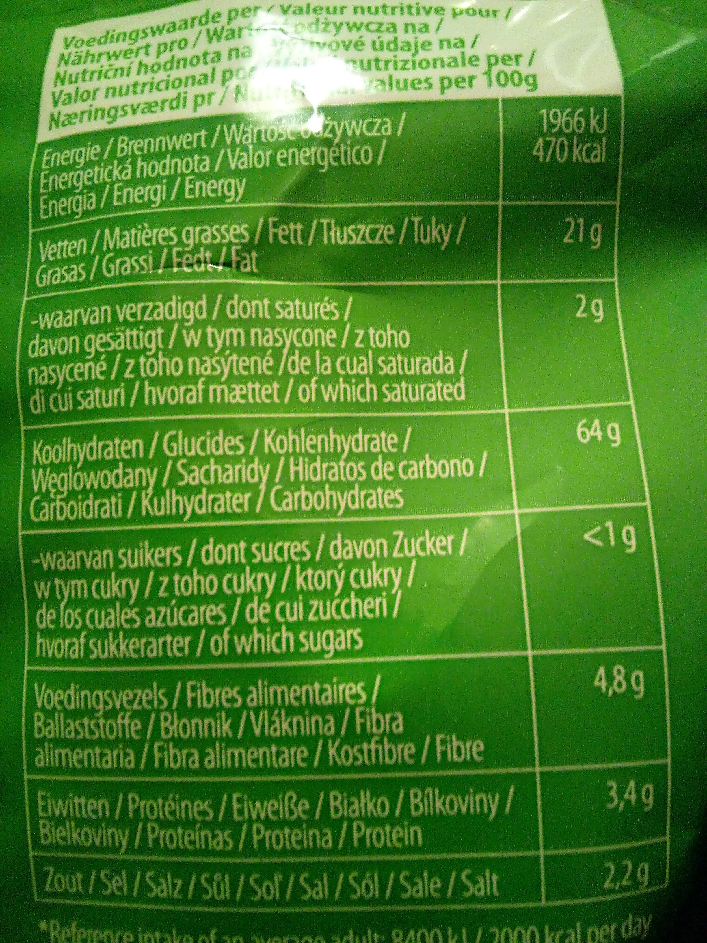 Mixed sticks & rings - Nutrition facts - fr