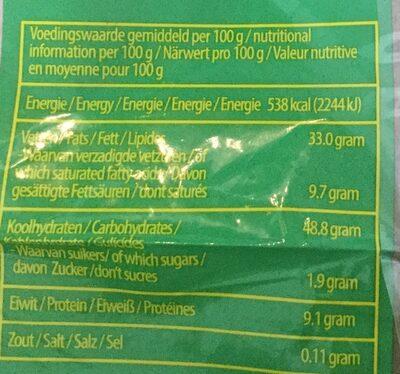 Emping Melindjo - Voedingswaarden - nl