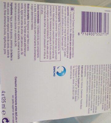 Fortimel compact - Informations nutritionnelles - es