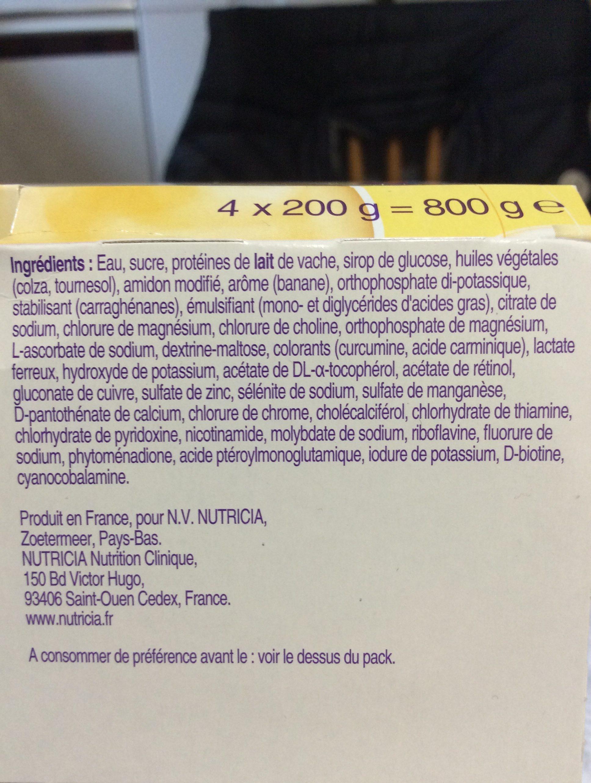 Fortimel Creme hyperproteine - Ingrédients - fr