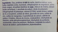Fortimel - Ingrédients