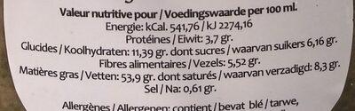 Saice vinaigrette aux algues vertes - Voedigswaarden