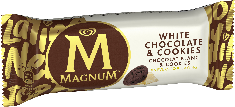 Magnum Bâtonnet Glace Chocolat Blanc & Cookies - Producto - es
