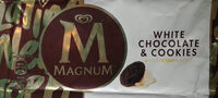 Magnum Bâtonnet Glace Chocolat Blanc & Cookies - Produktas - lt