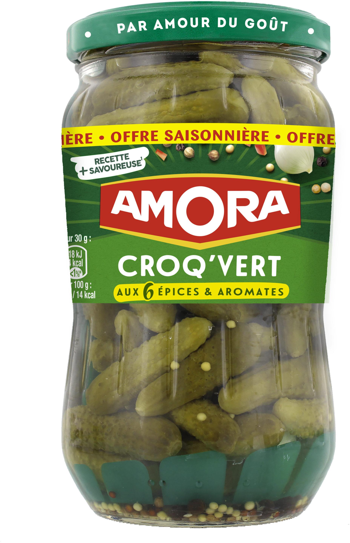 Amora Croq'Vert Cornichons Extra Fin 350g - Produit - fr