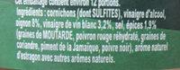 Amora Croq'Vert Cornichons Extra Fin 350g - Ingrédients - fr
