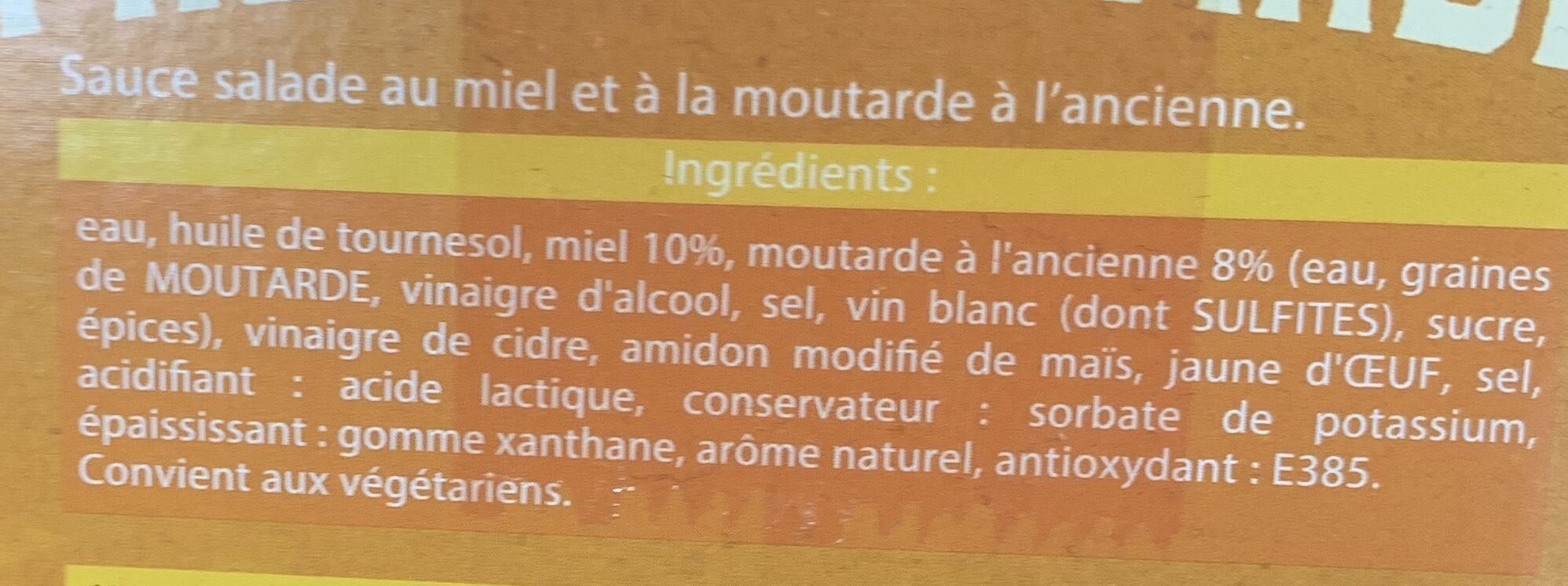 Sauce Salade ';La Miel Moutarde'; - Ingrediënten