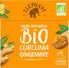 Elephant Mon Infusion Bio Curcuma Gingembre 20 Sachets Pyramides - Produit