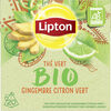 Lipton Thé Vert Bio Gingembre Citron-Vert Bio 20 Sachets Pyramides - Produit